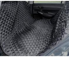 tierlando® Autoschondecke, Autoschutzdecke, Hundedecke, mit Reißverschluß teilbar, 160 x 140 cm, Schwarz – SMR-160-03
