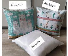 KK Lama Dekokissen Verwandlungs-Kissen mit Pailletten 40 x 40 cm