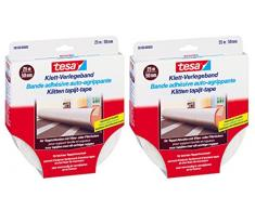 tesa® Klett-Verlegeband für Teppichboden mit Vlies- oder Filzrücken (25m x 50mm / 2er Pack)