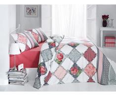 Bettwäsche 200x200 Baumwolle Bettgarnitur mit Reißverschluss 3 teilig L-7593