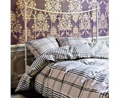 Vanezza Biber Bettwäsche Brighton beige 135x200 cm + 80x80 cm