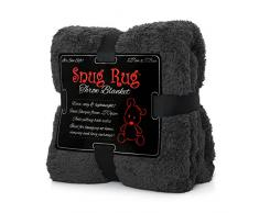 Snug Rug Kuscheldecke Decke Fleecedecke - Original Luxury Sherpa Werfen Warm Fleece (Grau)