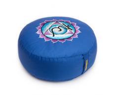 Yogakissen Glückssitz Chakra Classic, blau/5. Chakra Kehlkopf-Chakra (Vishudda)
