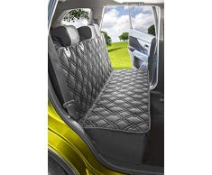 Meadowlark® Rücksitzbezug, Autoschondecke für Hunde, Hundedecke für Auto Rückbank, universale Decke für Haustiere auf Rücksitz, in PKW, LKW & SUV, gepolstert rutschfest wasserdicht + Sicherheitsgurt