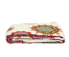 Quilt P 230x250cm Orient Vintage Plaid Tagesdecke Patchwork Shabby Decke