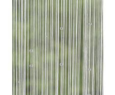 Frank Faden-Vorhang Weiße Perlen