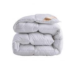 Love House Daunenbettdecke, Bettdeckeneinlage, Alternative Bettdecke, gesteppt mit Ecken, atmungsaktiv, gebürstete Mikrofaser, Baumwolle, grau, Queen