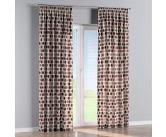 Dekoria Vorhang mit Kräuselband Dekoschal Blickdicht 1 Stck. 130 × 260 cm rot-beige Maßanfertigung möglich