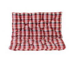 Ambientehome Sitzkissen und Rückenkissen Bank Hanko, kariert rot, ca 100 x 98 x 8 cm, Bankauflage, Polsterauflage