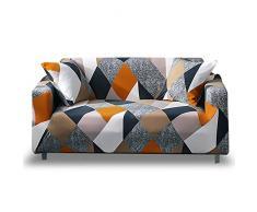 HOTNIU Elastischer Sofa-Überwürfe Antirutsch Stretch Sofaüberzug, Sofahusse, Sofabezug, Sofa Abdeckung Hussen für Sofa, Couch, Sessel in Verschiedene Größe und Farbe (3 Sitzer, Pattern_mf)