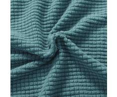 subrtex Spandex Sofabezug Stretch Sofahusse Couchbezug Sesselbezug Elastischer Antirutsch Stretchhusse für Sofa (1 Sitzer,Hellblau)