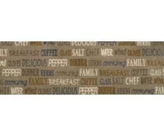 Küchenläufer Küchenmatte Dekoläufer für Küche Esszimmer und Bar waschbare Küchenläufer Küchendeko Modell ,,COOK & WASH delicious Kaffee Coffee Breakfast Größe ca. 50 x 150 cm