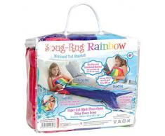 Snug Rug, Meerjungfrauen-Schwanz/Fleece-Decke, Regenbogen-Design, extrem weich