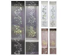 Moderner Flächenvorhang Schiebegardine aus hochwertigem Ausbrenner-Stoff mit Klettband, Weiß Tendril, 2 Stück 245x60 (HxB), 856100