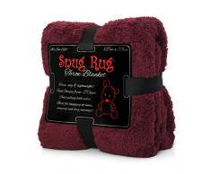 Snug Rug Kuscheldecke Decke Fleecedecke - Original Luxury Sherpa Werfen Warm Fleece (Mulberry Rot)