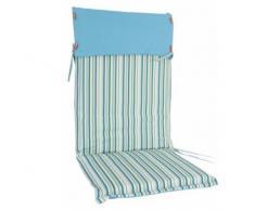Hochlehner-Auflage STOCKHOLM blau gestreift Gartenmöbelauflage Polster Sitzkissen Polyester NEU