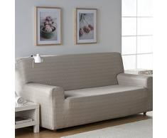 Zebra Textil 32693 Sofahusse elastisch Vega, 2 Sitzer, naturfarben