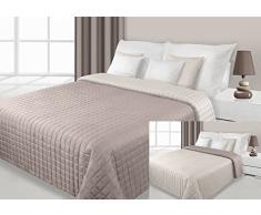 220x240 creme beige Tagesdecke Bettüberwurf zweiseitig Eva