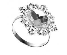 12 Stück Serviettenringe Serviette Halter Wedding Banquet Dinner Dekor gefallen Silber