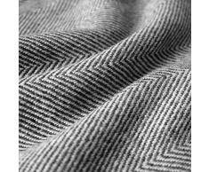 Lorenzo Cana High End Kaschmirdecke 100% Kaschmir flauschig weiche Wohndecke Decke handgewebt Sofadecke Kaschmirdecke Wolldecke 96177