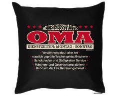 bedrucktes Fun Sofa Kissen: Betriebsstätte Oma - Geschenk Dekokissen Couchkissen Sofakissen Geburtstag Weihnachten Ostern