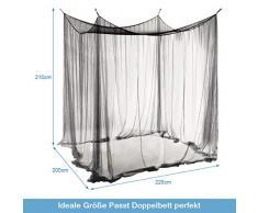 Insektenschutz Kastenform noorsk/® Moskitonetz f/ür Doppelbett XXL Betthimmel M/ückennetz 200 x 200 cm gro/ß