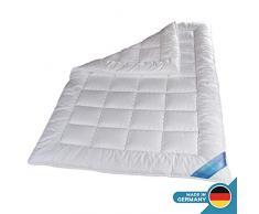 Schlafmond Medicus Clean Allergiker Ganzjahresdecke 220 x 240 cm, wärmeregulierende Decke aus Baumwolle, Bettdecke bis 95 Grad waschbar, Made in Germany