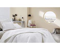 Ibena Nancy Tagesdecke 280x250 cm - Bettüberwurf weiß XXL, leichte Decke mit Steppmuster