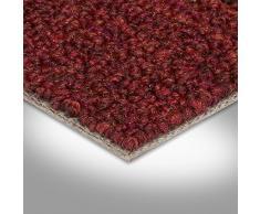Teppichboden Auslegware   Schlinge gemustert   400 und 500 cm Breite   rot   Meterware, verschiedene Größen   Größe: 2 x 5m