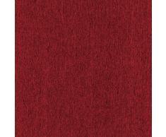 Hochqualitativer Verdunkelungsvorhang nach Maß, Verdunkelungsgardine, Design: Struktur, Kräuselband, Schlaufen, Thermogardine, Höhe: 70cm bis 330cm, Bordeaux Rot (125cm)