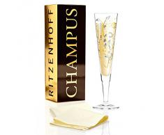 Ritzenhoff 1070226 Design Champagnerglas, Sektglas mit Stoffserviette, Nuno Ladeiro, Herbst 2015