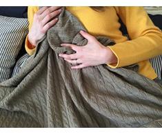 Weiche Warme 100% Kaschmir Decke - Made in Italy
