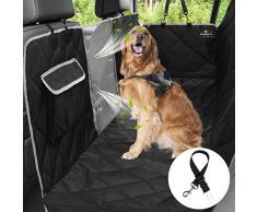 PHILORN 6-Lagen Autoschondecke für Hunde mit Seitenschutz - 100% wasserdichte, Kratzfest, rutschfeste Kofferraumdecke für Hunde, Hundedecke für Rücksitz für Auto/Van/SUV - Frei Sicherheitsgurt