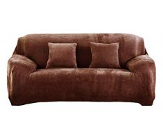 Icegrey Sofabezug Sofahusse Sofaabdeckung Sesselbezug Sesselhusse Sofaüberwurf Stretch Kaffee 2 Sitz 145-185cm