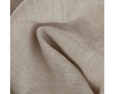 URBANARA Bettwäsche-Set Bellvis - 100% reiner Leinen, Natur - 1 Bettbezug 225x220 cm + 2 Kissenbezüge 50x75 cm, 3-teiliges Set Leinen-Bettwäsche in Übergröße