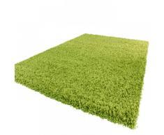 Shaggy Hochflor Langflor Teppich Sky Einfarbig in Grün, Grösse:120x170 cm
