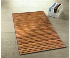 Kleine Wolke Holzmatte Level Badteppich, 100% Bambus, Natur, 115 x 60 cm