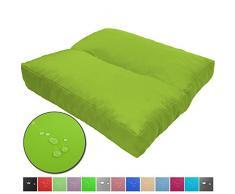 Loungekissen Wave schmutz- und wasserabweisende Outdoor Kissen Sitzauflage Polster für Sitzbänke und andere Gartenmöbel Sitzkissen Polsterauflage mit Lotus Effekt, Farbe:Grün, Größe:40 x 40 cm