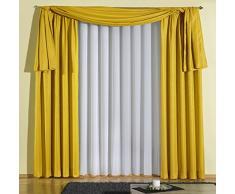 Wirth AustralienKra350-4 Vorhang Australien Kräuselband, 245 x 135 cm, Einzelgardine, gelb