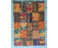 Bettüberwurf mit indischem Patchwork-Muster, für Doppelbett, Hand-Blockdruck, indische Baumwolle, aus Sari-Stoffen, Kantha-Handstich, Tagesdecke