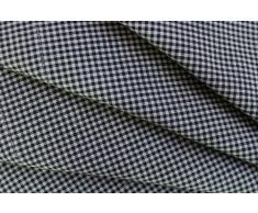 LINUM 4er Set Stoffservietten PETITE G0H schwarz weiß kariert 45cm x 45cm Minikaro, Serviette, Tischserviette, Tischtextilien, 100% Baumwolle