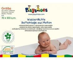 Playshoes 770214 Molton Betteinlage Kinderbett wasserdicht und atmungsaktiv, Oeko-Tex Standard 100, 70 x 100 cm