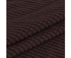 BellaHills Couchbezug für Hunde Stretch Hussen Jacquard Sofa Cover Anti-Slip Polyester Spandex elastischer Stoff Sofa Protector (Zwei Sitze, braun)