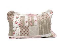 1001 Wohntraum 14D8 Quilt Adele 200 x 230 cm mit Kissen Blumen Punkte Rosen Vintage Plaid Tagesdecke Patchwork Shabby Decke