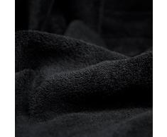 CelinaTex Quebec Kuscheldecke XXL 200 x 220 cm schwarz Coral Fleece Tagesdecke Mikrofaser Sofadecke federleicht