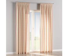 Dekoria Vorhang mit Kräuselband Dekoschal Blickdicht 1 Stck. 130 × 260 cm Creme- rot Maßanfertigung möglich