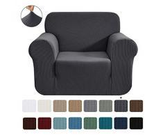 CHUN YI 1-Stück Jacquard Sofaüberwurf, Sofaüberzug, Sofahusse, Sofabezug für Sofa, Couch, Sessel, mehrere Farben (Grau, 1-sitzer)