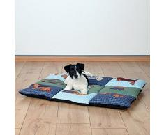 Trixie Pet Products Patchwork gesteppt Bett, Blau/Grün, 31.5 × 21.5 in, Quilted Bed, Blue/Green