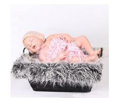 Baby Fotografie Quilt, Bekleidung Longra Neugeborene Baby Fotografie Stützen Faux Pelz Stuffe Hintergrund Baby Foto Weiche Decke (Dark Gray)