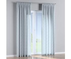 Dekoria Vorhang mit Kräuselband Dekoschal Blickdicht 1 Stck. 130 × 260 cm grau-blau Maßanfertigung möglich